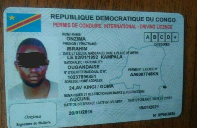 Image result for permis de conduire rdc